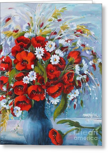 Field Bouquet 2 Greeting Card by Marta Styk