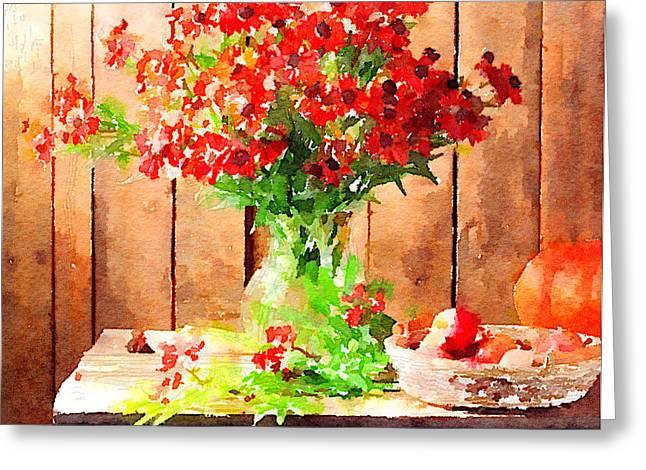 Field Flowers Greeting Card by Yury Malkov