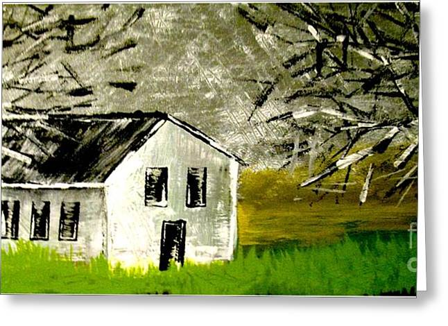 Field House Greeting Card by Amy Sorrell