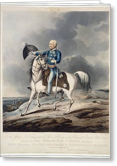 Field Marshal Von Blucher Greeting Card