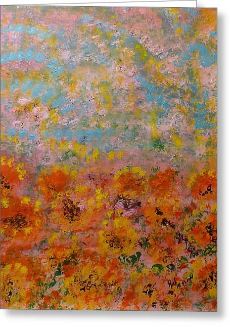 Field Of Color Greeting Card by Rich Mason