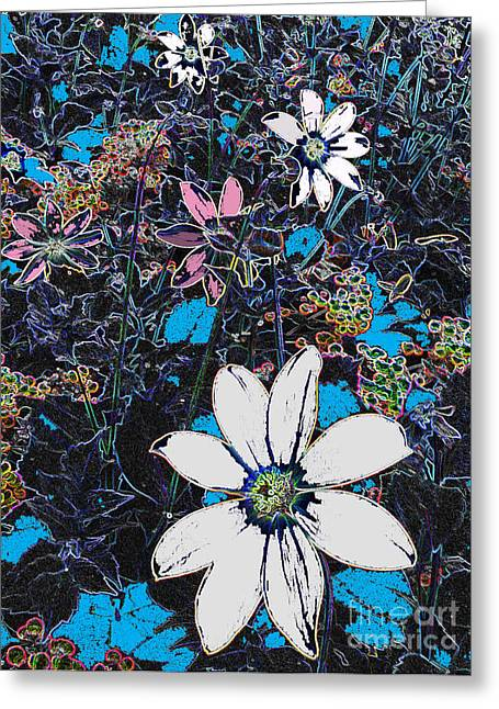 Field Of Dreaming Flowers Greeting Card