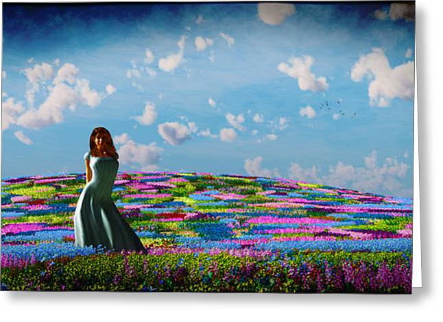 Field Of Flowers... Greeting Card