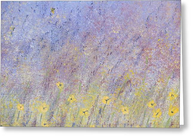 Field Of Flowers Greeting Card by Tim Townsend