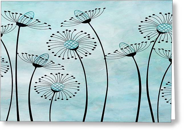 Field Of Flowers Within 2 Greeting Card by Angelina Vick