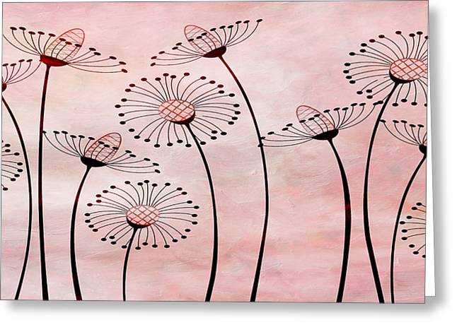 Field Of Flowers Within 3 Greeting Card by Angelina Vick