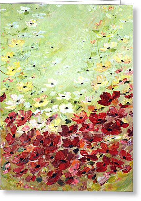 Field Of Poppies Greeting Card by Dorothy Maier