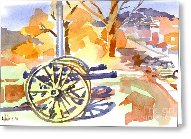 Field Rifles In Watercolor Greeting Card by Kip DeVore