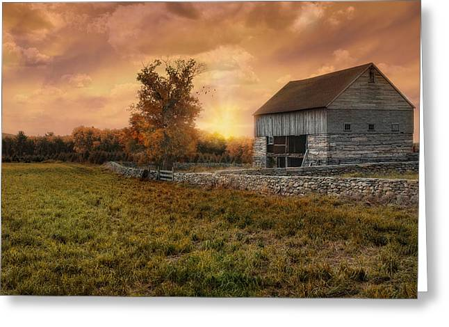 Fieldstone Bliss Greeting Card by Robin-Lee Vieira
