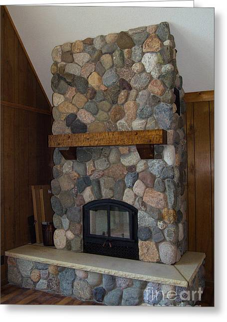 Fieldstone Remodel Greeting Card by The Stone Age