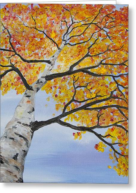 Fiery Aspen Greeting Card