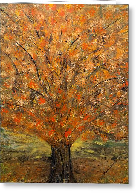 Fiery Autumn Greeting Card