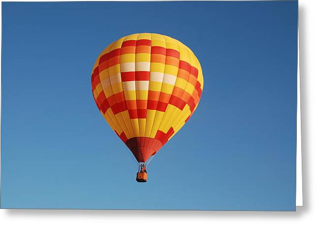 Fiery Balloon Greeting Card by Miguelito B