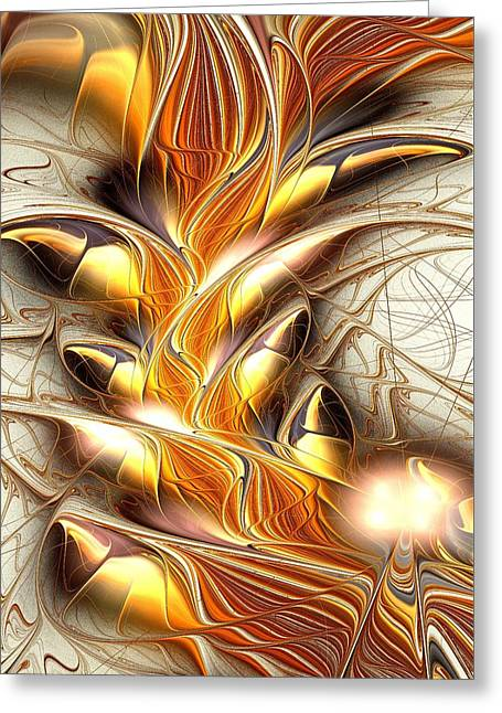 Fiery Claws Greeting Card