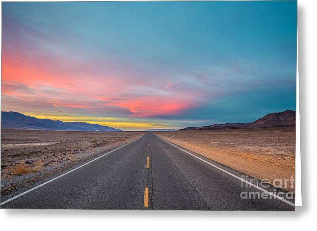 Fiery Road Though The Valley Of Death Greeting Card