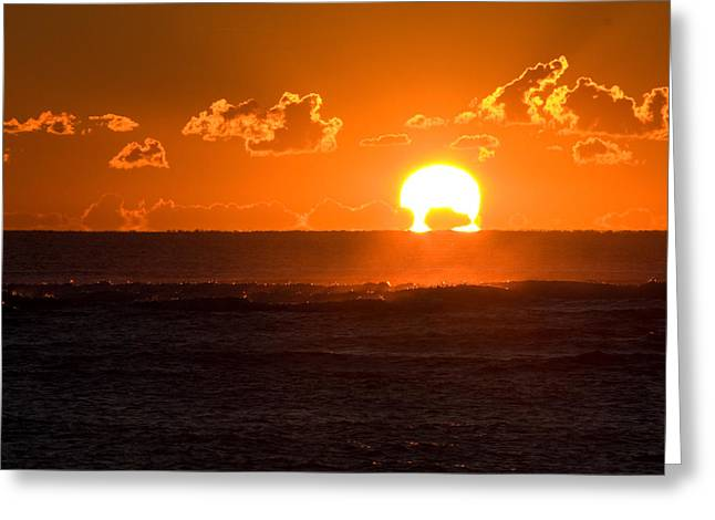 Fiery Sunrise Greeting Card
