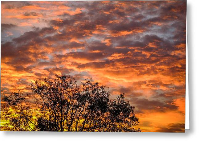 Fiery Sunrise Over County Clare Greeting Card