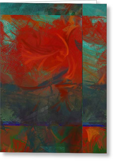 Fiery Whirlwind Onset Greeting Card by CR Leyland