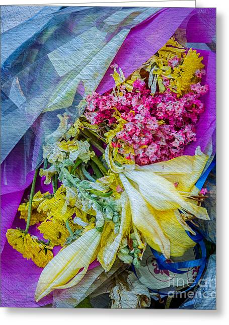 Fiesta In Blue Greeting Card by Susan Cole Kelly Impressions