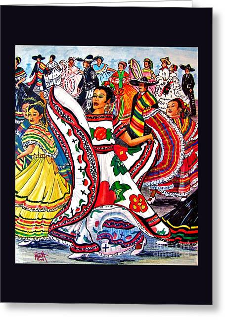 Fiesta Parade Greeting Card by Marilyn Smith