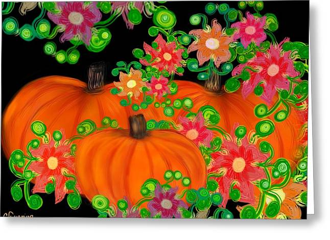 Fiesta Pumpkins Greeting Card