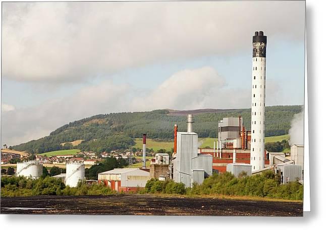 Fife Power Station A Gas Turbine Greeting Card