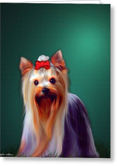 Greeting Card featuring the painting Fifi by Tyler Robbins
