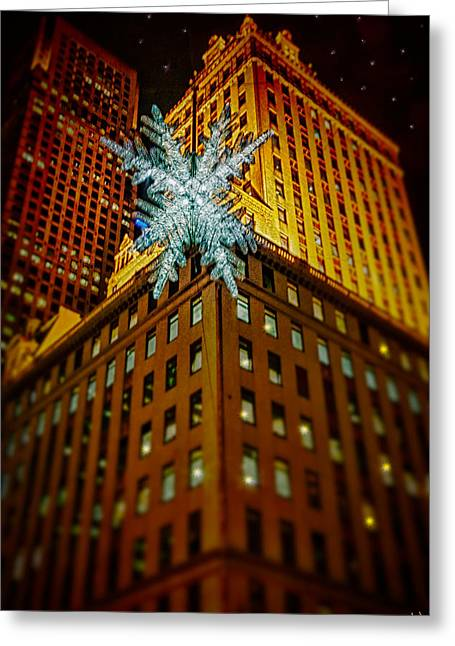 Greeting Card featuring the photograph Fifth Avenue Holiday Star by Chris Lord