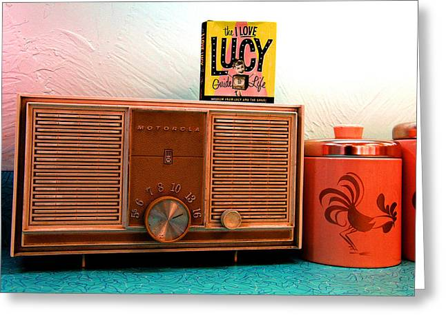 Fifties Radio Greeting Card by Mike Flynn