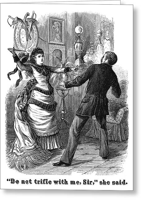 Fight, 19th Century Greeting Card by Granger