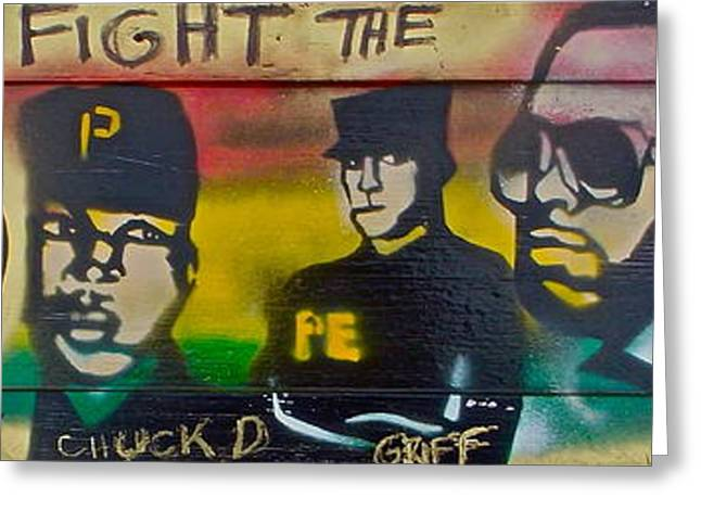 Fight The Power On Wood Greeting Card by Tony B Conscious