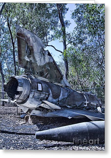 Fighter Plane Wreck Greeting Card by Douglas Barnard