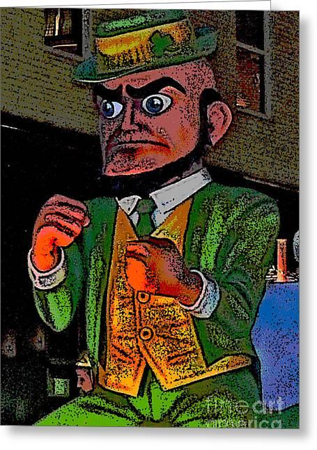 Fighting Irish Greeting Card by Marian Bell