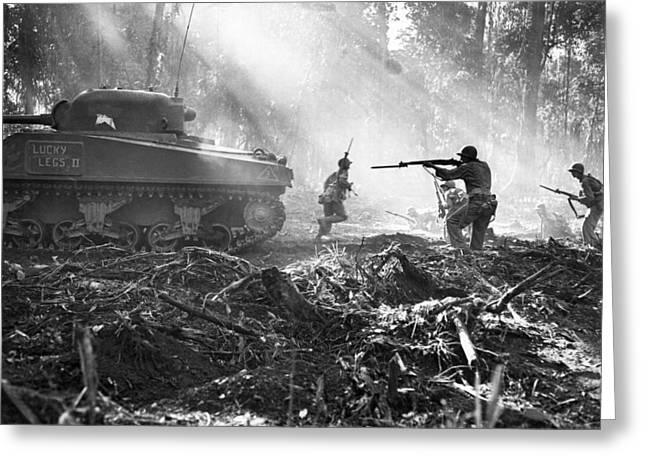 Fighting On Bougainville Greeting Card