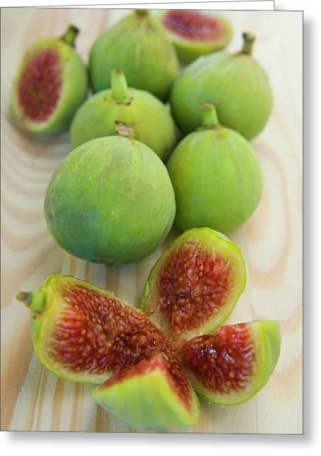 Figs (ficus Carica Greeting Card by Nico Tondini