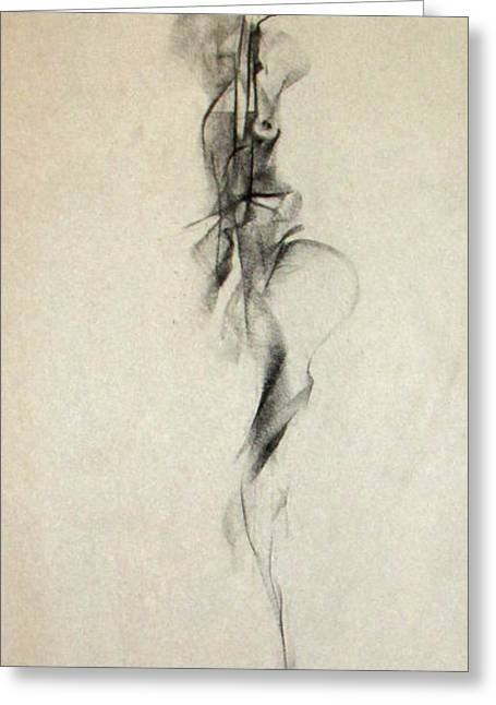 Figurative Gesture Drawing Greeting Card by John Arthur Ligda