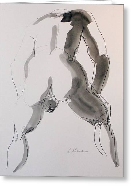 Figure 2 Male Nude Greeting Card by Craig  Bruce