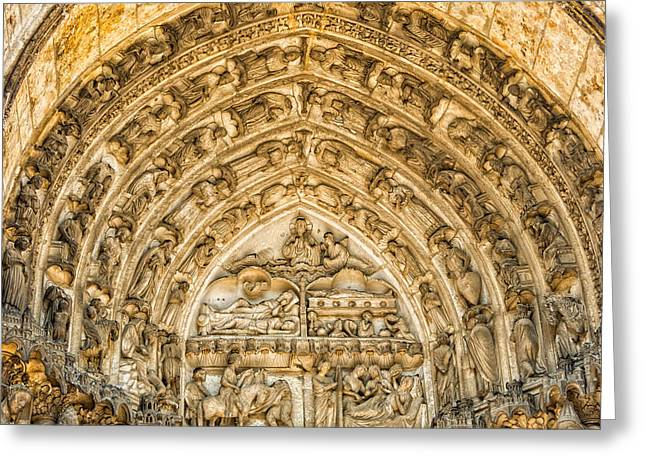 Gothic Archivolt At Chartres Greeting Card by Jurgen Lorenzen