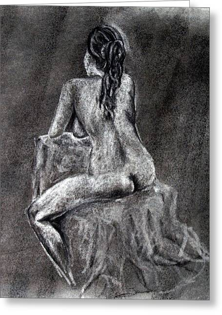 Figure Drawing 2 Greeting Card by Corina Bishop