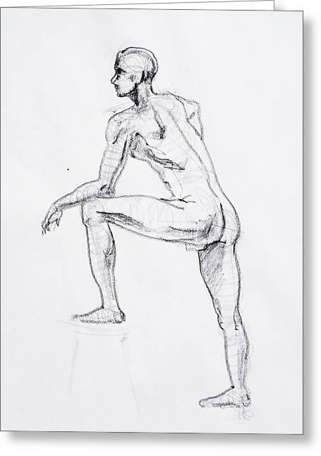 Figure Drawing Study II Greeting Card
