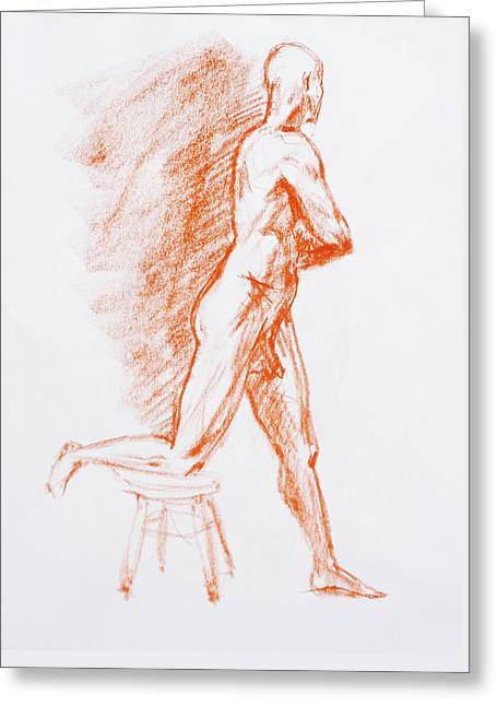 Figure Drawing Study IIi Greeting Card