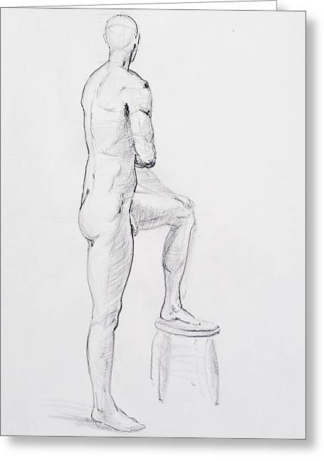 Figure Drawing Study Iv Greeting Card
