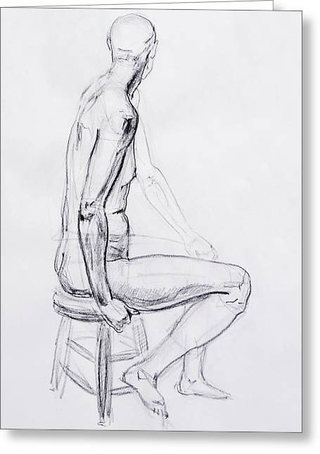 Figure Drawing Study V Greeting Card