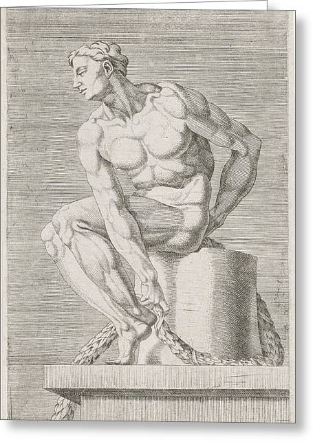 Figure From The Sistine Chapel, Rome Italy Greeting Card