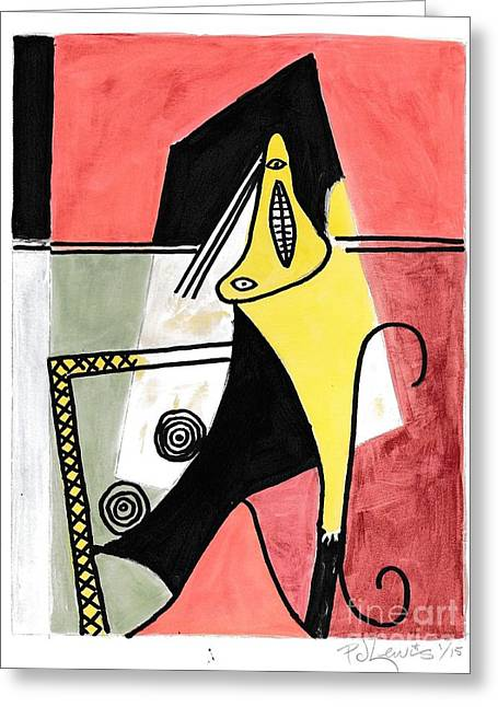 Figure Greeting Card by P J Lewis