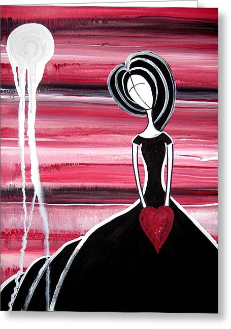Figure Painting - I Hold Your Heart In My Hands Greeting Card by Laura Carter