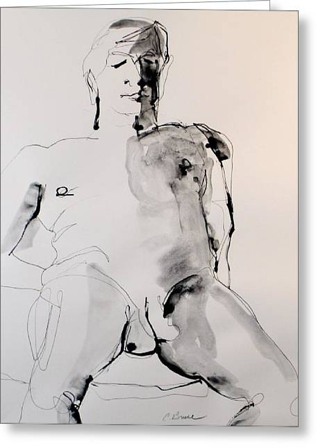 Figure11 Male Nude Study Greeting Card by Craig  Bruce
