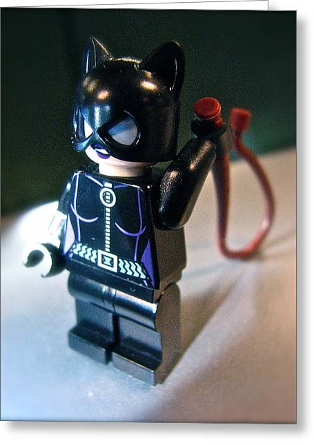 Figures At Work - Catwoman 3344 Greeting Card