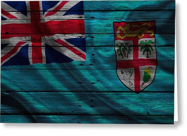 Fiji Greeting Card by Joe Hamilton