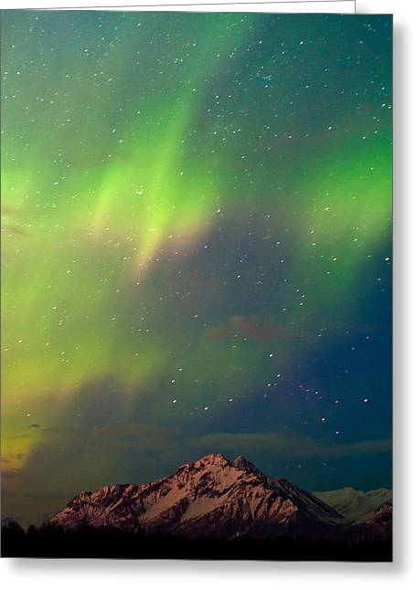 Filled With Aurora Greeting Card by Ron Day